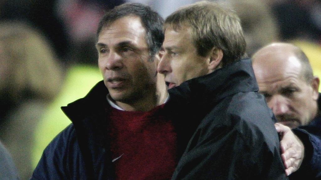 Bruce Arena (l.) and Jürgen Klinsmann (r.)