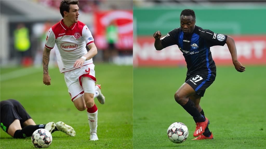 Raman (li.) wechselt zum FC Schalke, Tekpetey (re.) zu Fortuna Düsseldorf