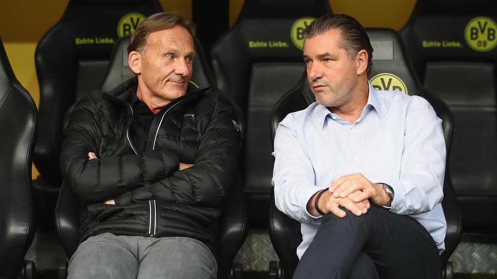 BVB-Geschäftsführer Hans-Joachim Watzke und Sportdirektor Michael Zorc planen den Kader der neuen Saison