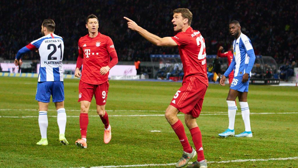 Thomas Müller erzielte für den FC Bayern gegen Hertha BSC ein Tor