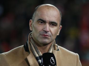 Roberto Martínez hablando para la tele de la Premier League.