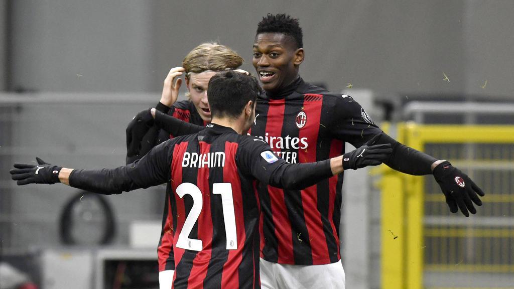 Milan jubelt über den Sieg gegen den FC Turin