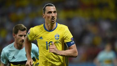 Zlatan Ibrahimovic 2016 bei seinem bisher letzten Länderspiel