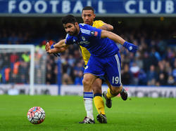 Diego Costa (l.) brachte Chelsea in Front