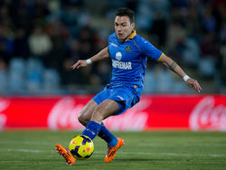 Adrían Colunga im Spiel gegen Levante UD