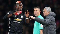 Paul Pogba und José Mourinho sind nicht auf einer Wellenlänge