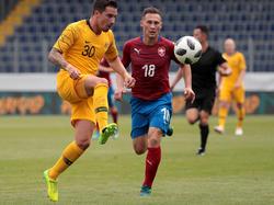 Jamie Maclaren (links) kam bei den Aussies in der Schlussphase