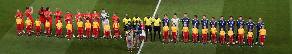 Die Teams sind bereit für den Anpfiff!