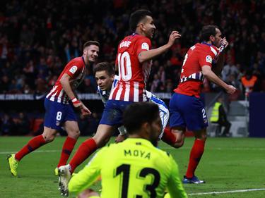 Godín marcó el primero del Atlético contra la Real Sociedad. (Foto: Getty)