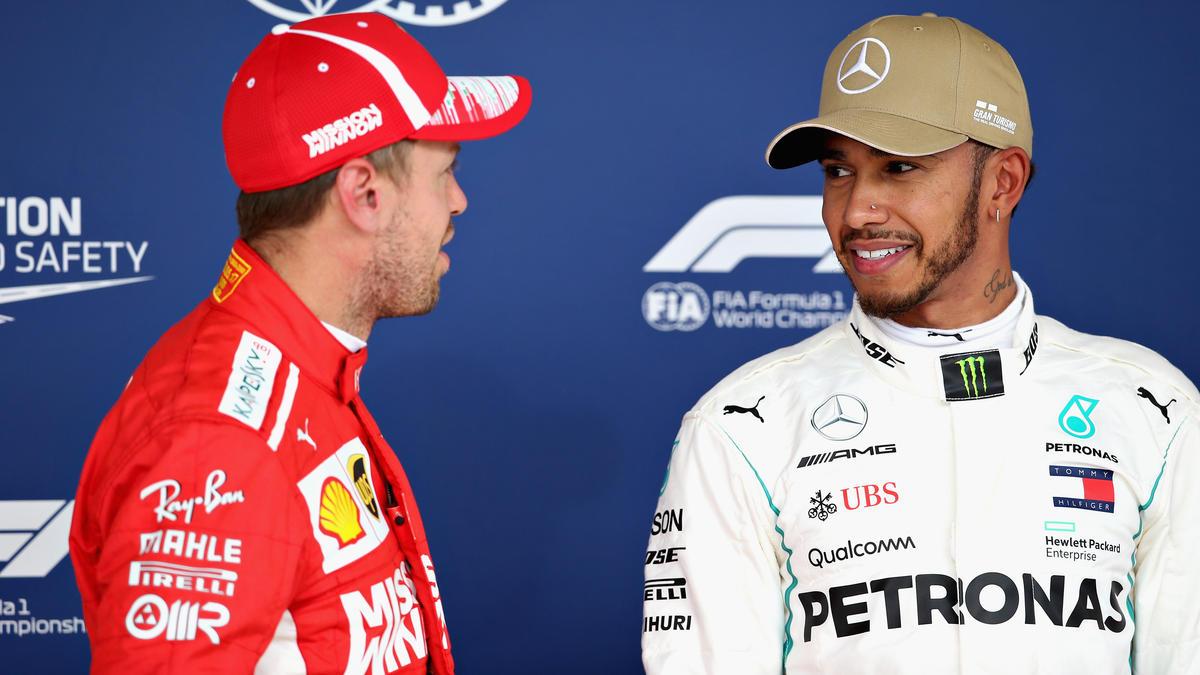 Hat Hamilton (re.) Vettel eingebremst?
