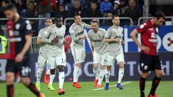 Leonardo Bonucci (3.v.r.) brachte Juventus Turin auf die Siegerstraße