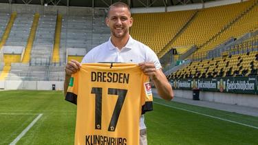Dynamo Dresden präsentiert Neuzugang René Klingenburg
