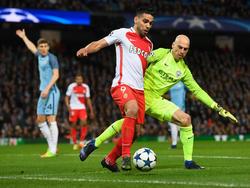 Caballero (dcha.) en un duelo Champions ante el Mónaco. (Foto: Getty)