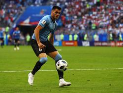 Maxi Gómez con la camiseta de Uruguay.
