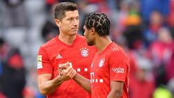 Robert Lewandowski (l.) und Serge Gnabry erzielten die Bayern-Tore