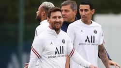 Messi junto a Di María, su compatriota.