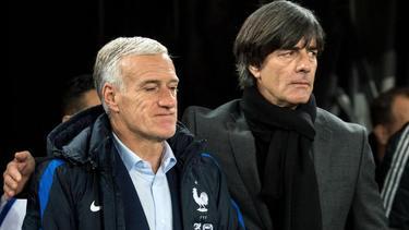 Didier Deschamps (l.) und Joachim Löw können gut miteinander