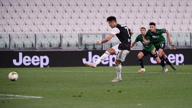 Cristiano Ronaldo hat Juve mit zwei Elfmetertoren vor einer Heimniederlage bewahrt