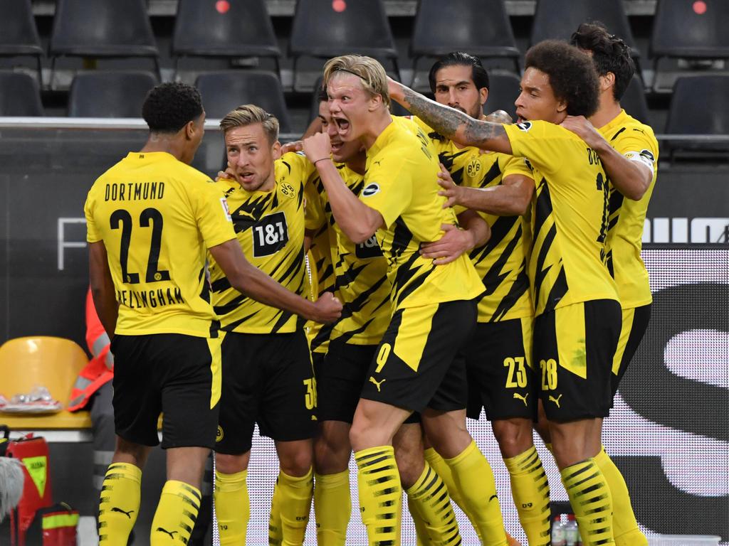 Erling Håland traf am letzten Wochenende schon wieder doppelt für den BVB