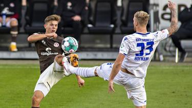 Der KSC setzte sich gegen St. Pauli durch