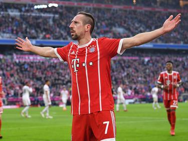 Franck Ribéry celebra su gol con la afición muniquesa. (Foto: Getty)