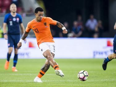 Depay en un partido con la selección holandesa. (Foto: Getty)