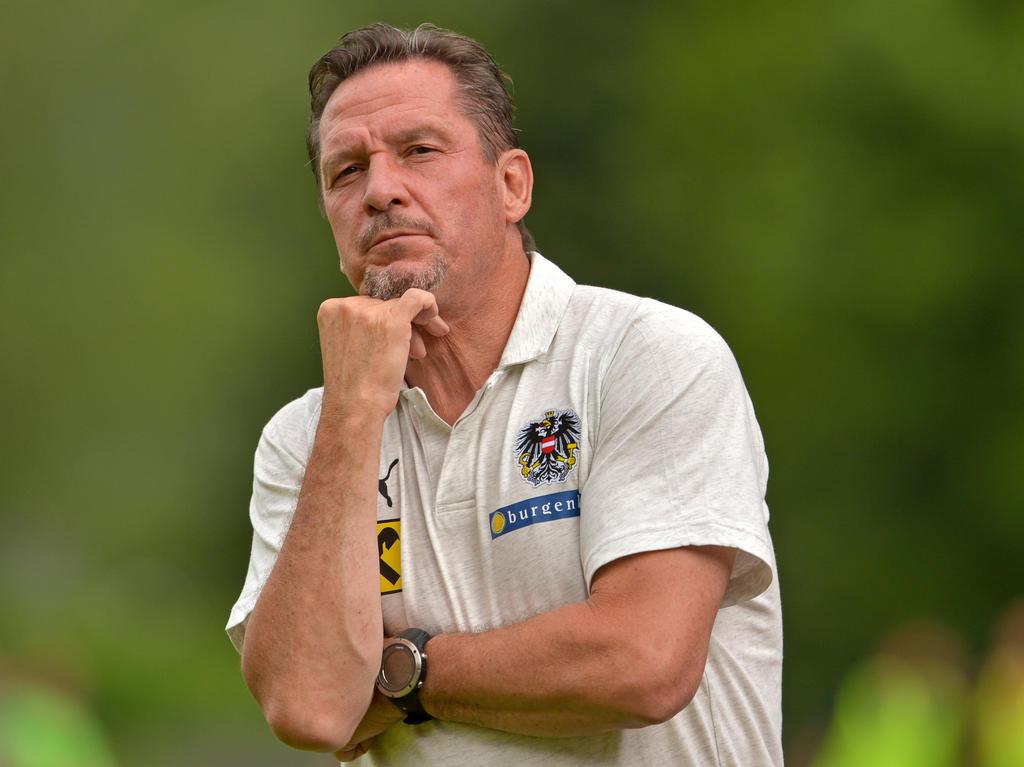 ÖFB-U21-Teamchef Werner Gregoritsch hat mit seinen Jungs noch zwei Brocken vor sich