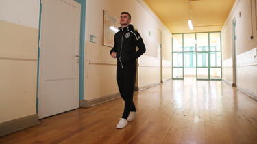 Timo Werner ging am Dienstag durch die Oberschule in Leipzig