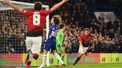 Ander Herrera (r.) erzielte per Kopf den Führungstreffer für Manchester United