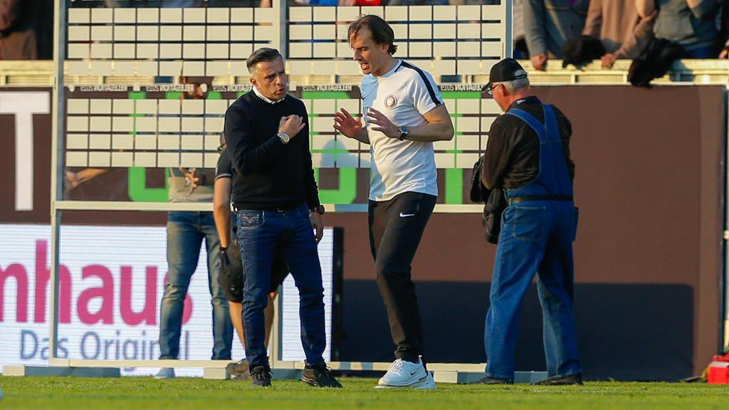 Tomas Oral und Rüdiger Rehm treffen am Dienstag in der Relegation erneut aufeinander