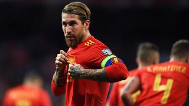 Ramos anotó su gol número 20 con la selección.