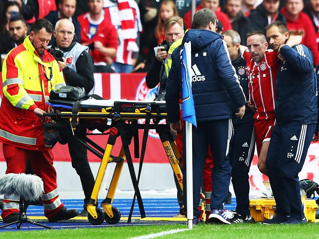 Bayern-Star Franck Ribéry ist offenbar schwer verletzt