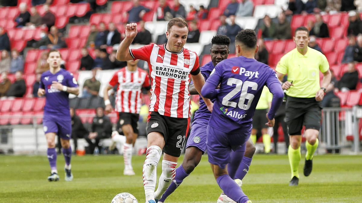 Mario Götze festigte Platz zwei mit der PSV Eindhoven