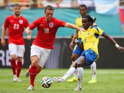 Rickie Lambert con la maglia dell'Inghilterra
