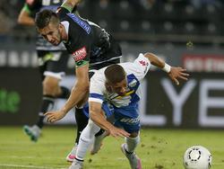 Marvin Potzmann hat Grödigs Lucas Venuto bei einer klaren Torchance zu Fall gebracht