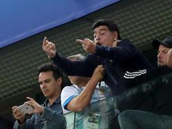 Diego Maradona sorgte mit obszönen Gesten für Entrüstung