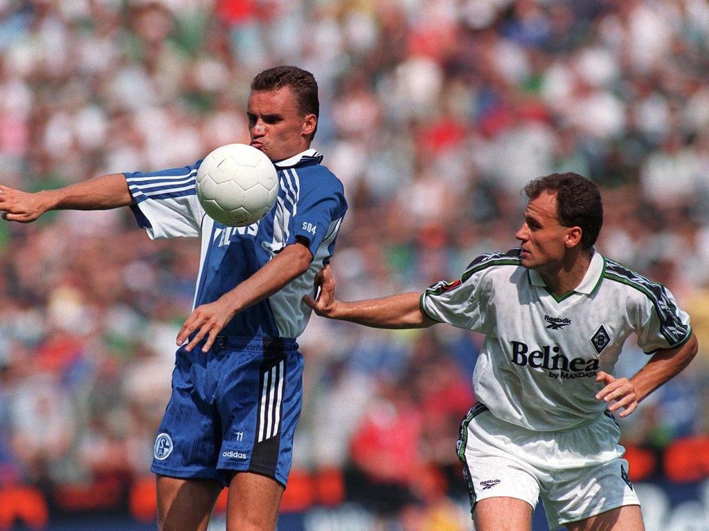 Martin Max (l.) trug sowohl das Trikot von Schalke 04 als auch von Gladbach