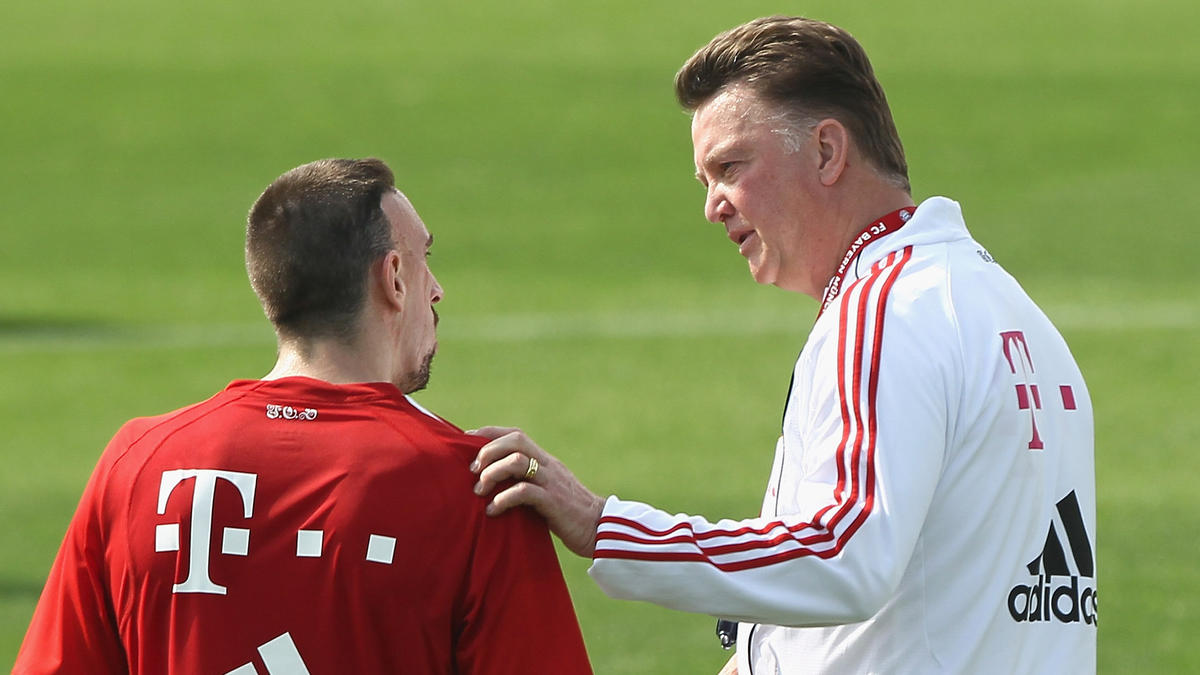 FC Bayern: Louis van Gaal schießt gegen Franck Ribéry und Pep ...