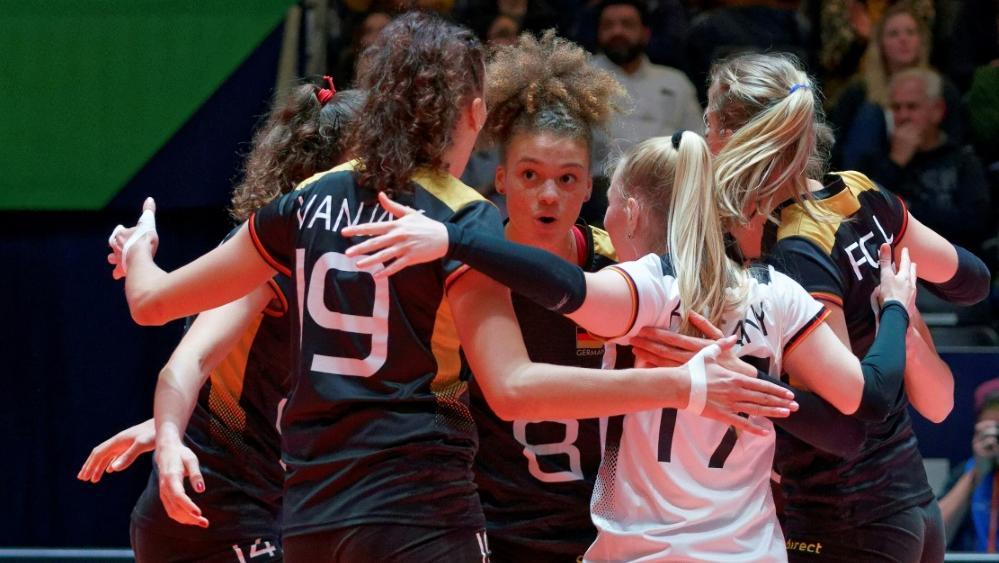 Die deutschen Volleyballerinnen holen den Gruppensieg