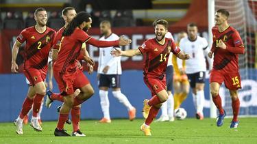 Dries Mertens (mit der Nummer 14) traf für Belgien zum 2:0