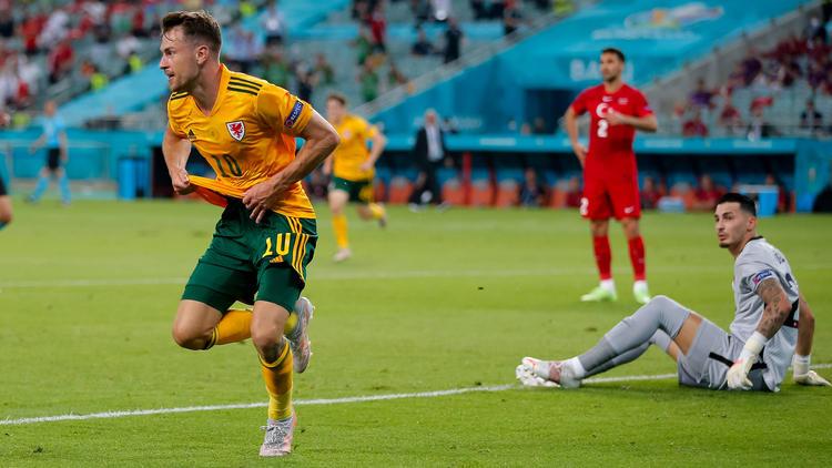 Aaron Ramsey brachte Wales gegen die Türkei auf Kurs