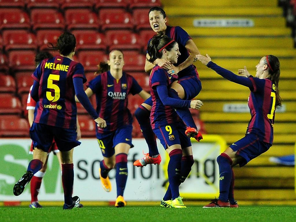 Barça se convierte en el primer equipo en encadenar cuatro ligas femeninas seguidas. (Foto: Getty)