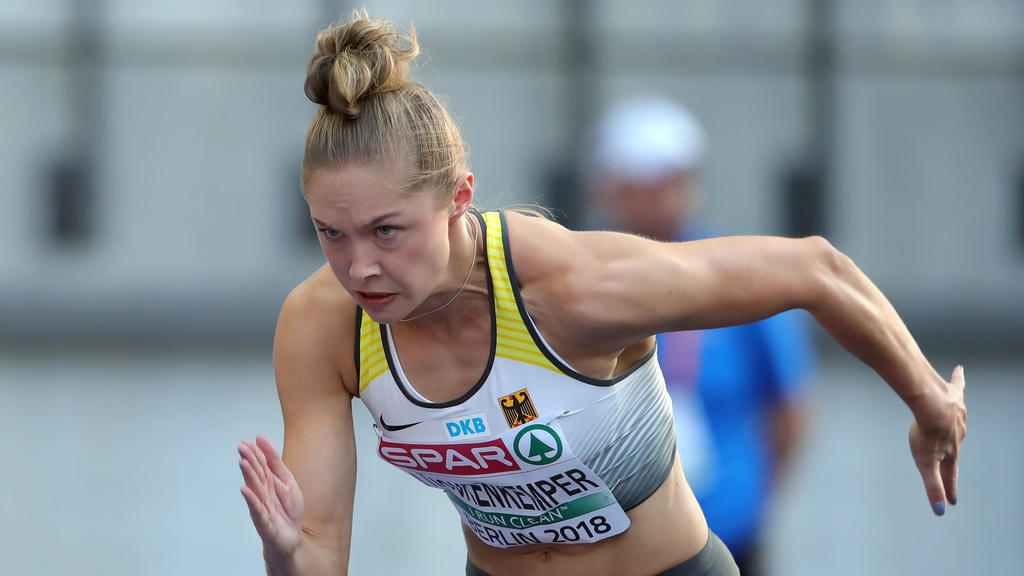 Gina Lückenkämper konzentriert sich auf ihren nächsten Lauf
