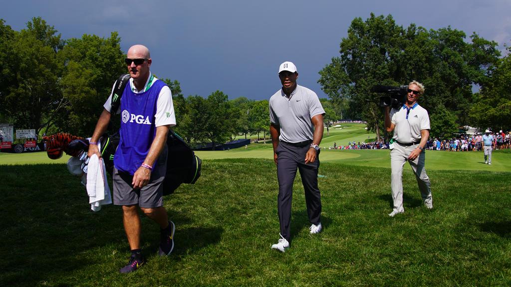 Tiger Woods und Co. wurden von einem Unwetter ausgebremst