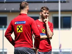Marko Arnautović und Guido Burgstaller blicken dem anstehenden Länderspieldoppel entgegen
