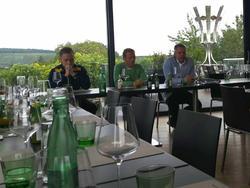 Hofbauer, Fallmann und Blumauer beim Wirt'n, bzw. strategischen Partner