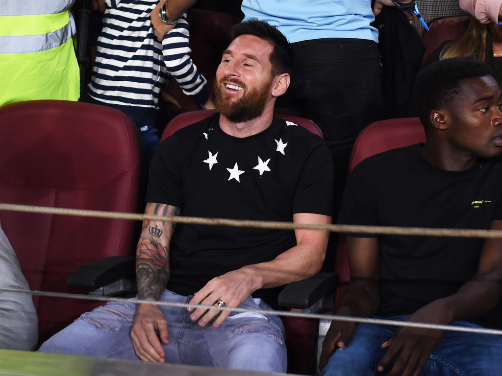 Messi ayer en el Camp Nou.