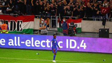 Raheem Sterling vor den ungarischen Anhängern
