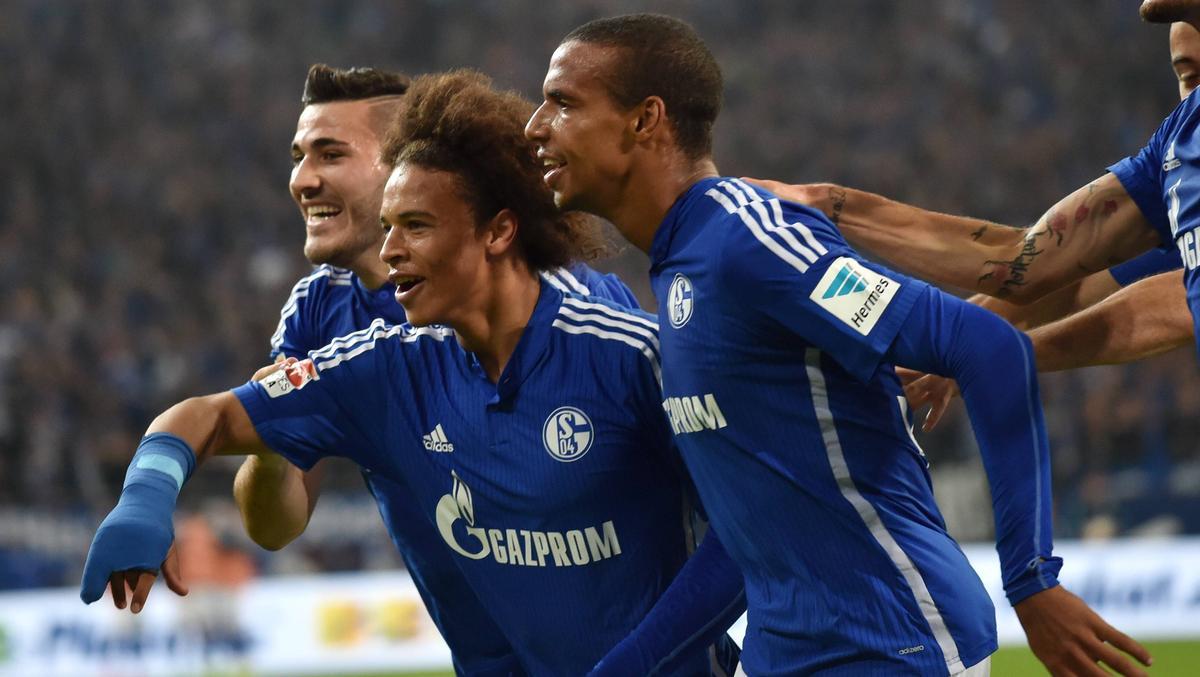 Spielten gemeinsam für den FC Schalke 04: Joel Matip (r.) und Leroy Sané