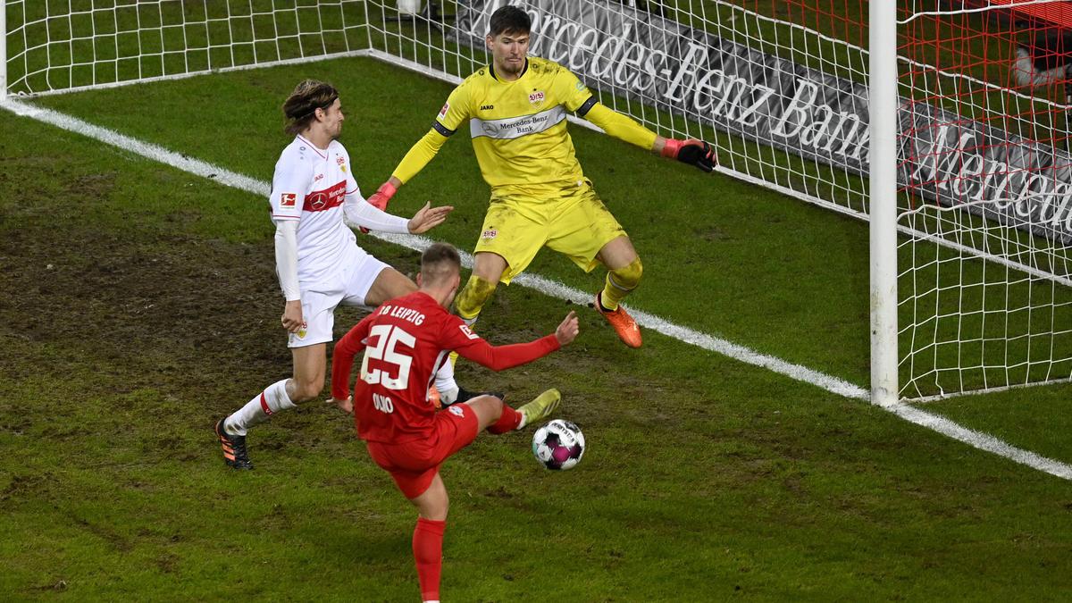 RB Leipzig zittert sich beim VfB Stuttgart an die Tabellenspitze